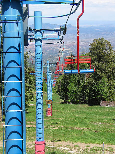ABQ 2004: Sandia Peak Chairlift Towers