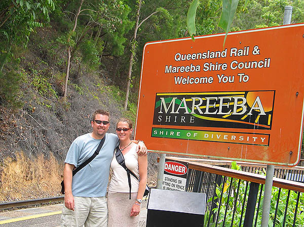 Australia 2004: Curtis and Jane at the Rail Stop