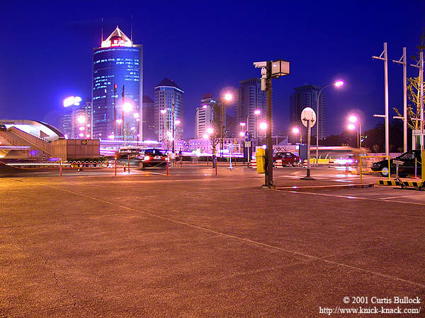 Beijing 2001: Intersection at Night