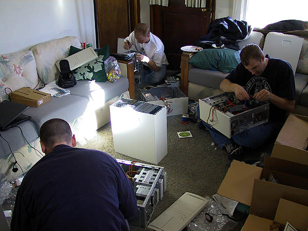 Computer Build Party 2001: The Living Room