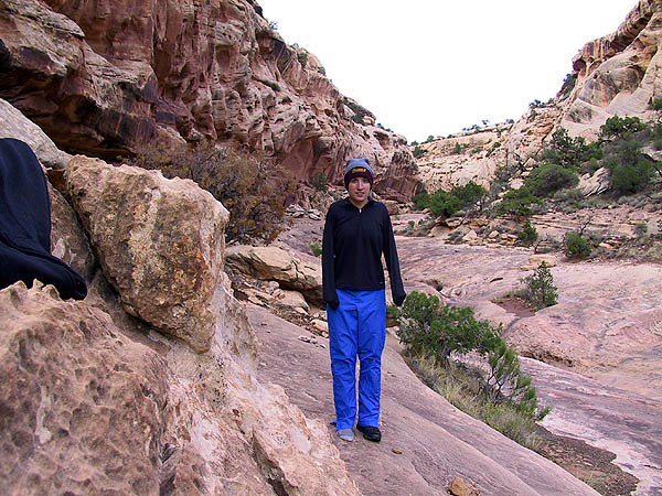 Canyoneering 2002: 11: Sara at Camp One