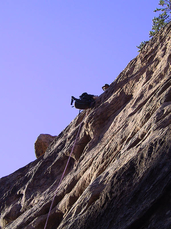 Canyoneering 2002: 61: Pack Rappeling
