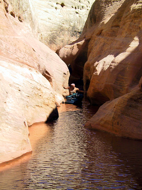 Canyoneering 2002: 77: Abba Coming through the Narrows