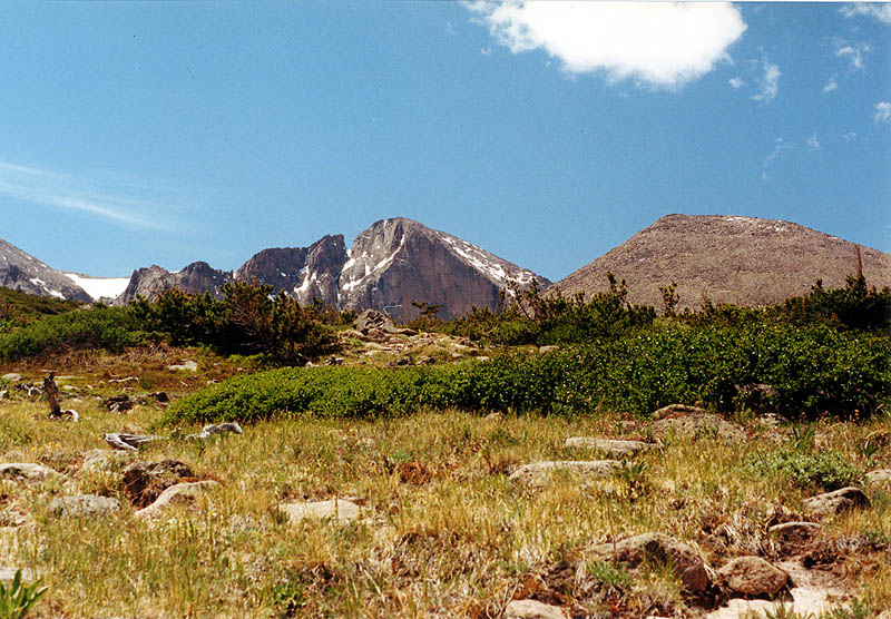 Chasm Lake 2000: Longs Peak from the Tundra