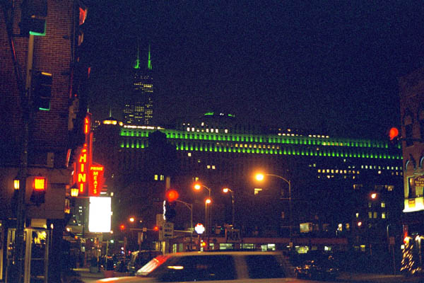 Chicago Sears Tower at Night