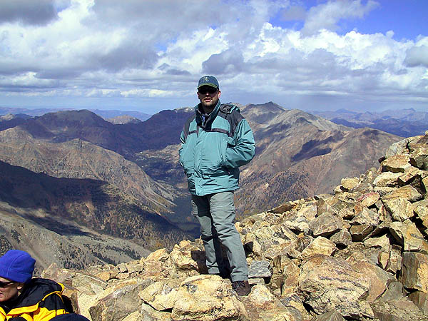 Mt Elbert 2001: Curtis at the Summit