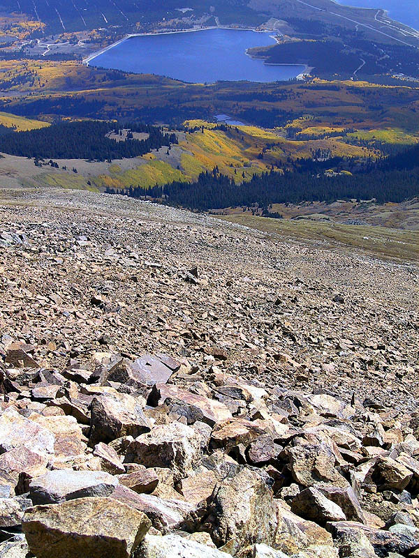 Mt Elbert 2001: Down to the Car