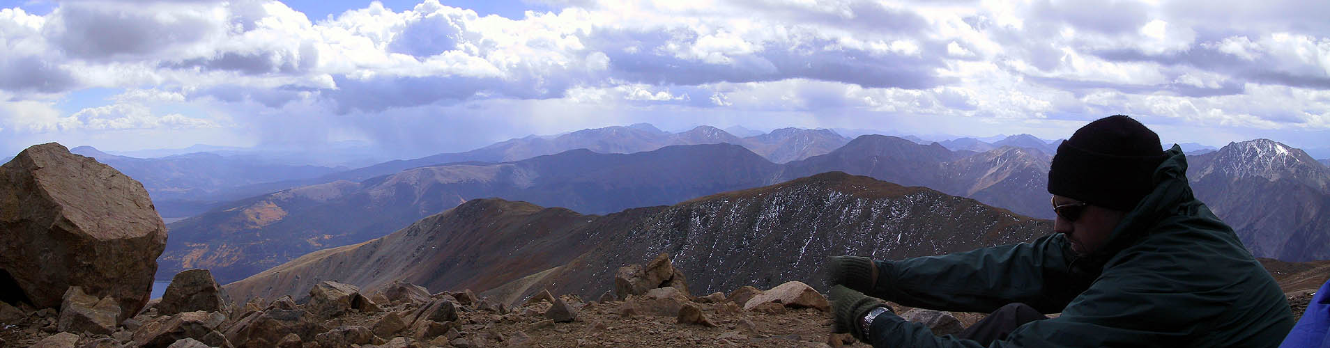 Mt Elbert 2001: Summit Panoramic