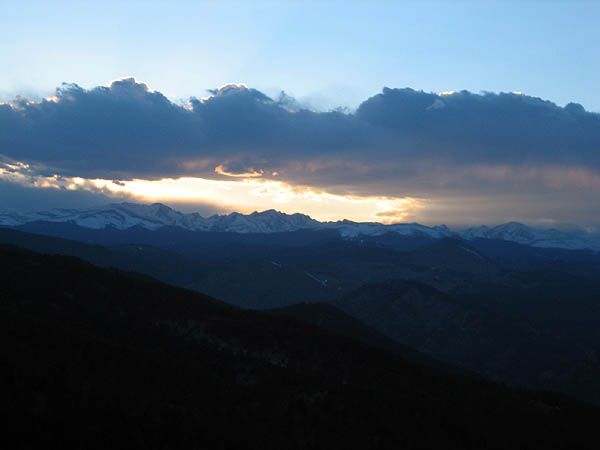 First Flatiron 2007: Indian Peaks Sunset