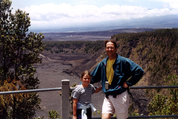 Hawaii: Carrie and Greg at the Kilauea Rim