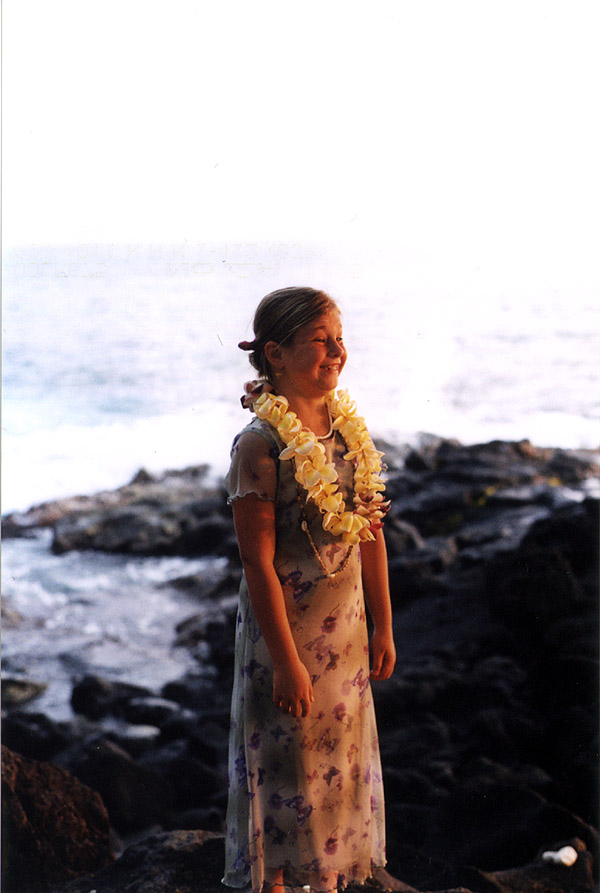 Hawaii: Carrie at Sunset