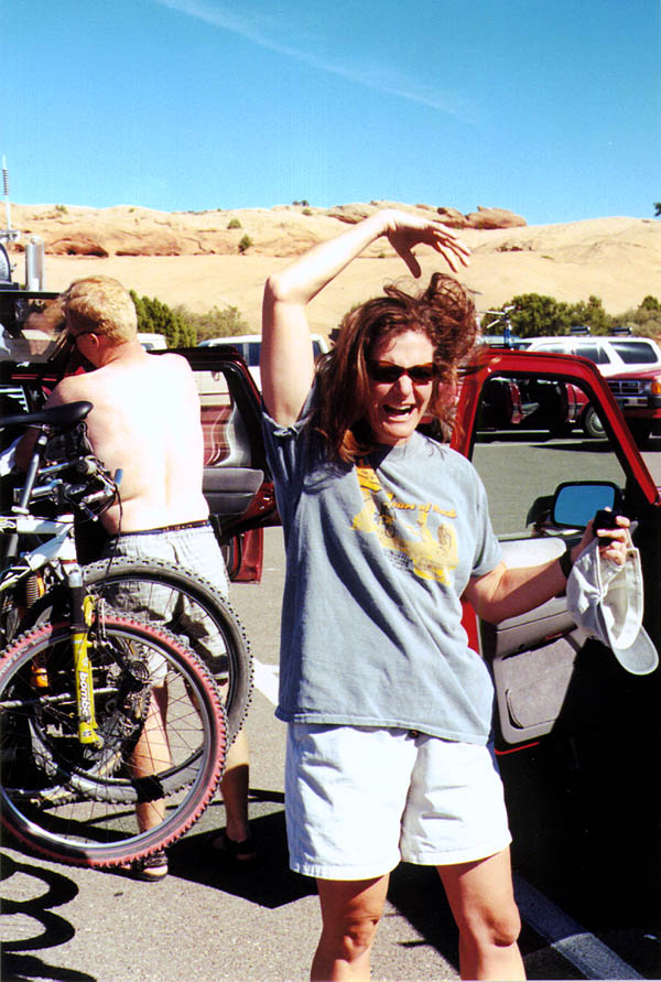 Moab 2000: Becky in the Parking Lot