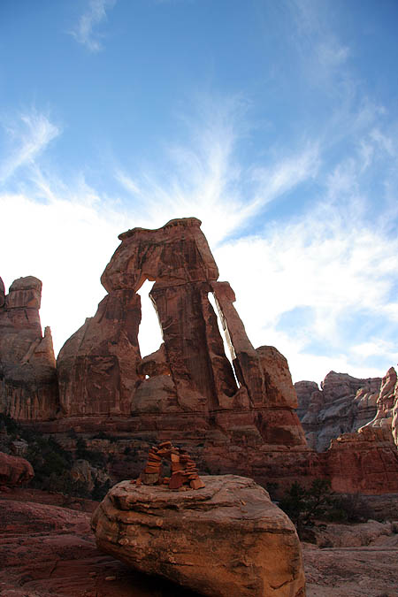 Moab 2005: Needles District: Druid Arch with Mini Druid Arch