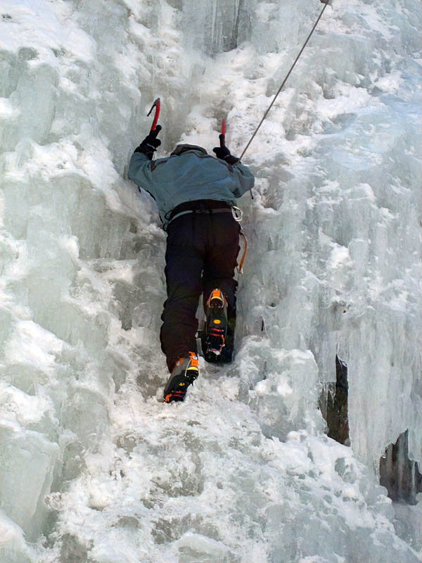 Ouray 2007: Curtis Ice Climbing 3