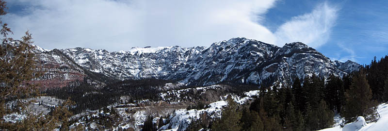 Ouray 2007: Pano Mountain Scenery