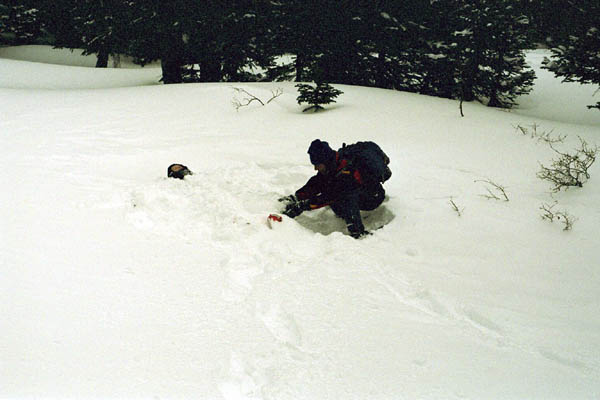 Aran Burying Stacy in the Snow