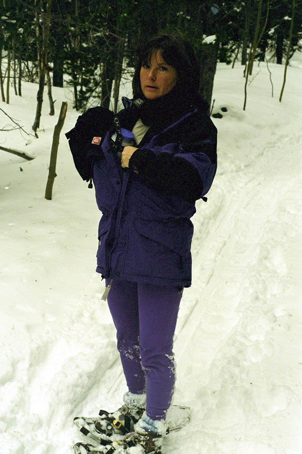 Mandy on Snowshoes