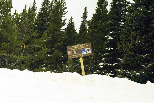 Road Sign near Brainard Lake