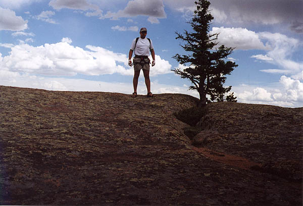 Vedauwoo May 2000: Curtis on Top