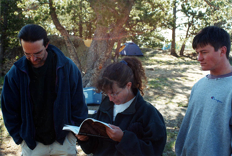 Vedauwoo 2001: Checking the Guide Book