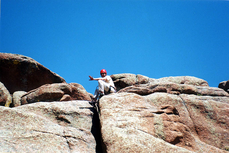 Vedauwoo 2001: Greg Belaying