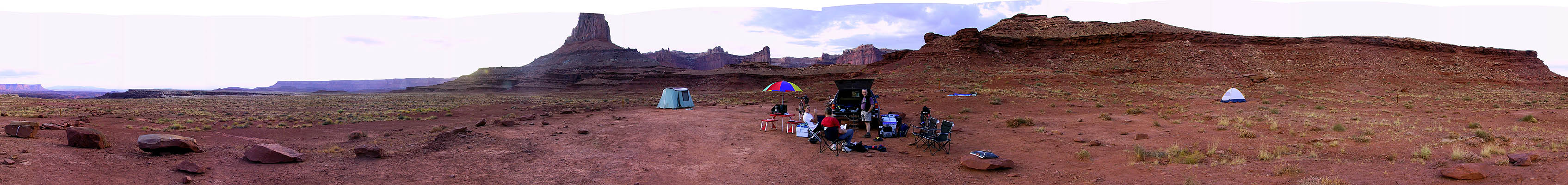 White Rim 2001: Day 1: Airport Camp A (Panoramic)